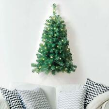 New 3ft Christmas Xmas Tree Decor 50 White LED Lights Wall Mount Corner Hanging