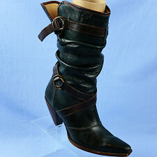 Charlie 1 Horse by Lucchese Dark Green Heeled Boots Brazil Womens Size 9 B