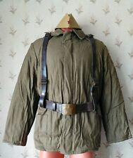 Original Soviet Red Army Winter Uniform Jacket+Belt+Suspenders+Pilotka