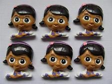 BB FLATBACKS DOC MCSTUFFIN pk of 6 resin flatback hair bows dolls