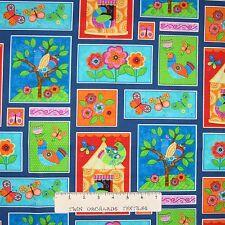 Spring Garden Fabric - Flight of Fancy Butterfly Bird Collage - Studio E YARD