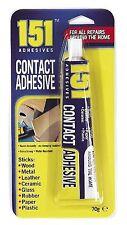 151 Contacto Pegamento Adhesivo Madera Metal Cuero Cerámica Vidrio Goma 50G