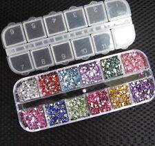 3000pcs Rhinestones Nail Decoration Round Colorful Glitters DIY Nail Art