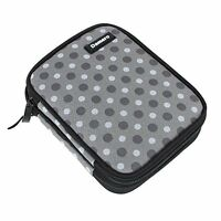 Damero Crochet Hook Case, Organizer Zipper Bag With Web Pockets For Various And