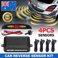 Rear Reversing Car Parking Sensors 4 Sensors Kit Audio Buzzer Alarm LED AU