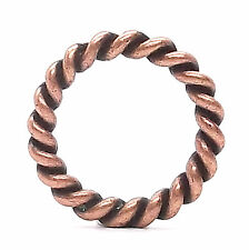 "Rope Border Antique Copper Ring 1"" (2.5 cm) 1176-10"