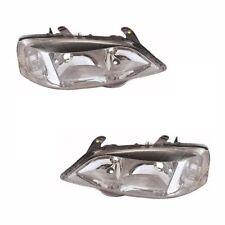 para Opel Astra Mk4 Furgoneta 1998-2005 faros luces cromo 1 Par Lado del