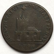 MIDDLESEX HENDON CONDER HALFPENNY TOKEN 1794  -  FREE SHIPPING!