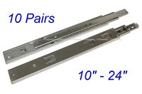 "10 Pairs Soft Close Full Extension 100-lb Ball Bearing Drawer Slides 10-24"" SL01"