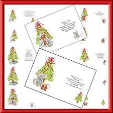 A6 X 24 Insertos De Lujo Navidad para las tarjetas (Lindo Ratón Set) de junio de 2017