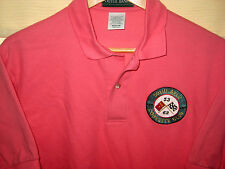 VINTAGE USA MADE CORVETTE CLUB MUSCLE RINGER COMBED COTTON POLO SHIRT-LNWOT-M