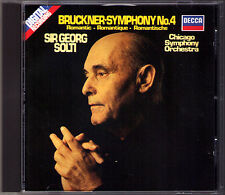 Sir Georg SOLTI: BRUCKNER Symphony No.4 Romantic DECCA CD 1983 Chicago Sinfonie