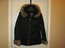 MEXX FULL ZIP FAUX FUR PARKA COAT S SMALL