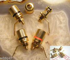 2 PAIRES BORNIERS HP AMPLIS LAMPES CÂBLE NU 4 mm² OU FICHE BANANE AMPLI TUBE DIY
