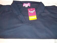 Trojan ladies short sleeve NAVY BLUE Polo Shirt 65% polyester 35% cotton size 26