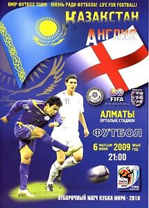 KAZAKHSTAN v England (World Cup Qualifier in Almaty) 2009 - Official programme