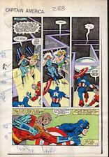 1983 Zeck Captain America 288 Marvel Comics Color Guide Kunst Seite 18: Deathlok