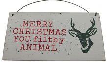 SHOELESS Joe Buon Natale si sporchi animale-Placca da appendere-Umoristico segno