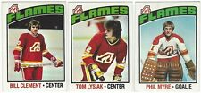 10 1976-77 TOPPS HOCKEY ATLANTA FLAMES CARDS (CLEMENT/LYSIAK/MYRE+++)