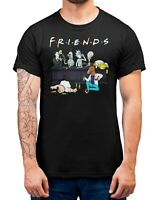 Cartoon Sitcoms Friends T-Shirt Adults Sizes Black 100% Cotton Shirt Tee