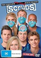 Scrubs : Season 9 (DVD, 2010, 2-Disc Set) New Sealed Region 4