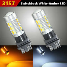2X Dual Color 3157 5630 LED 22 SMD Car Switchback Turn Signal Light Bulb DRL 12V