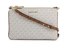 Michael Kors Large Double Pouch Crossbody Bag - Vanilla