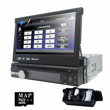"7"" Flip Out Touch Car Stereo DVD/USB/CD Player in Dash GPS NAVI Radio Bluetooth"