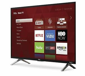 TCL 32-Inch 720p Roku Smart LED TV Flat Screen Television 2017 Model 32S305 NEW