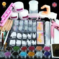 Pro Acrylic Nail Art Tool Kit Set Powder Nail Sticker DIY Set Pump Nail Brush A+
