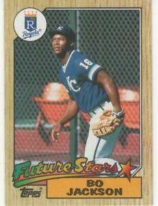 "1987 Topps # 170 BO ""BO KNOWS"" JACKSON """"FUTURE STARS/RC"" Kansas City Royals"