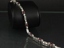 Rubin Brillant Armband ca. 3,60ct 750/- Weißgold  DeGEB Wertgutachten 5.000,--