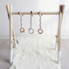 Wood Baby Activity Gym Play Nursery Sensory Wooden Frame