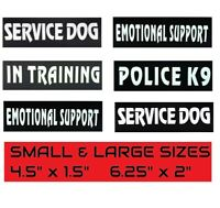 SERVICE DOG IN TRAINING EMOTIONAL Patch Reflective Tag for Dog Harness or Vest