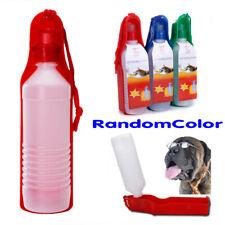Dispensador de Agua para Perros Gatos 500ml Botella de Plástico Travel
