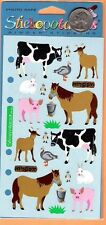 Stickopotamus Petting Zoo Stickers- Horses, Pigs, Goats, Cows, Rabbits, Bird