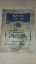 ih international Harvester Refrigerator Fridge Manual Catalog Parts