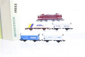 N Trix 11032 DR 243 366-2 Zug-Set Elektrolok E-Lok Güterwagen analog OVP/J44