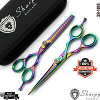 "New 5.5"" Barber Hairdressing Hair Cutting Thinning Barber Saloon Scissors set"