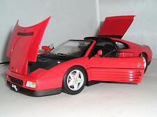 X5480 HOT WHEELS ELITE ROSSO FERRARI F348TS Rosso 1:18 Modello Pressofuso Auto Sportiva Nuovo