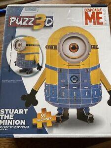 Despicable Me Stuart The Minion 3D Puzzle 91 Pieces Sealed New
