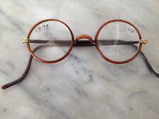 57f0aacd1181 Brown Round 140 mm - 150 mm Temple Vintage Eyeglasses