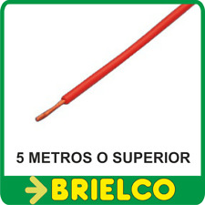 CABLE FLEXIBLE SILICONADO ROJO PARA PUNTAS PRUEBA INSTRUMENTOS MEDIDA 5M BD7892