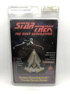 Star Trek The Next Generation Klingon Communicator Talking Sound Badge