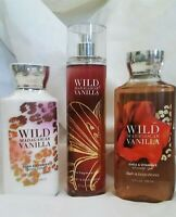 Bath and Body Works WILD MADAGASCAR VANILLA 3Pc Set!  BRAND NEW