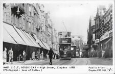 RP Tram Postcard London County Council Tramways Car 1762 Croydon High St Pamlin