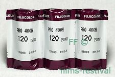3 rolls Fujifilm Pro 400H 120 Color Film Fuji