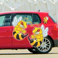 Böse Biene Aufkleber Autoaufkleber Sticker 2er SET 11,5 x10 cm Hornisse Wespe