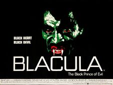 "BLACULA Rare Blaxploitation Repro UK quad poster 30x40"" FREE P&P Horror"