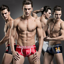 Men's Comfy Sexy Ice silk Underwear Boxer Briefs Shorts Bulge Pouch Underpants